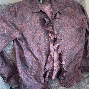Ralph Lauren Silk Button Down Blouse